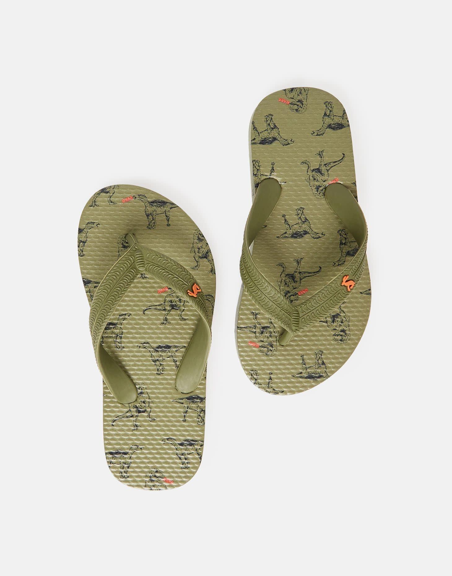 Joules Green Dino Flip Flop