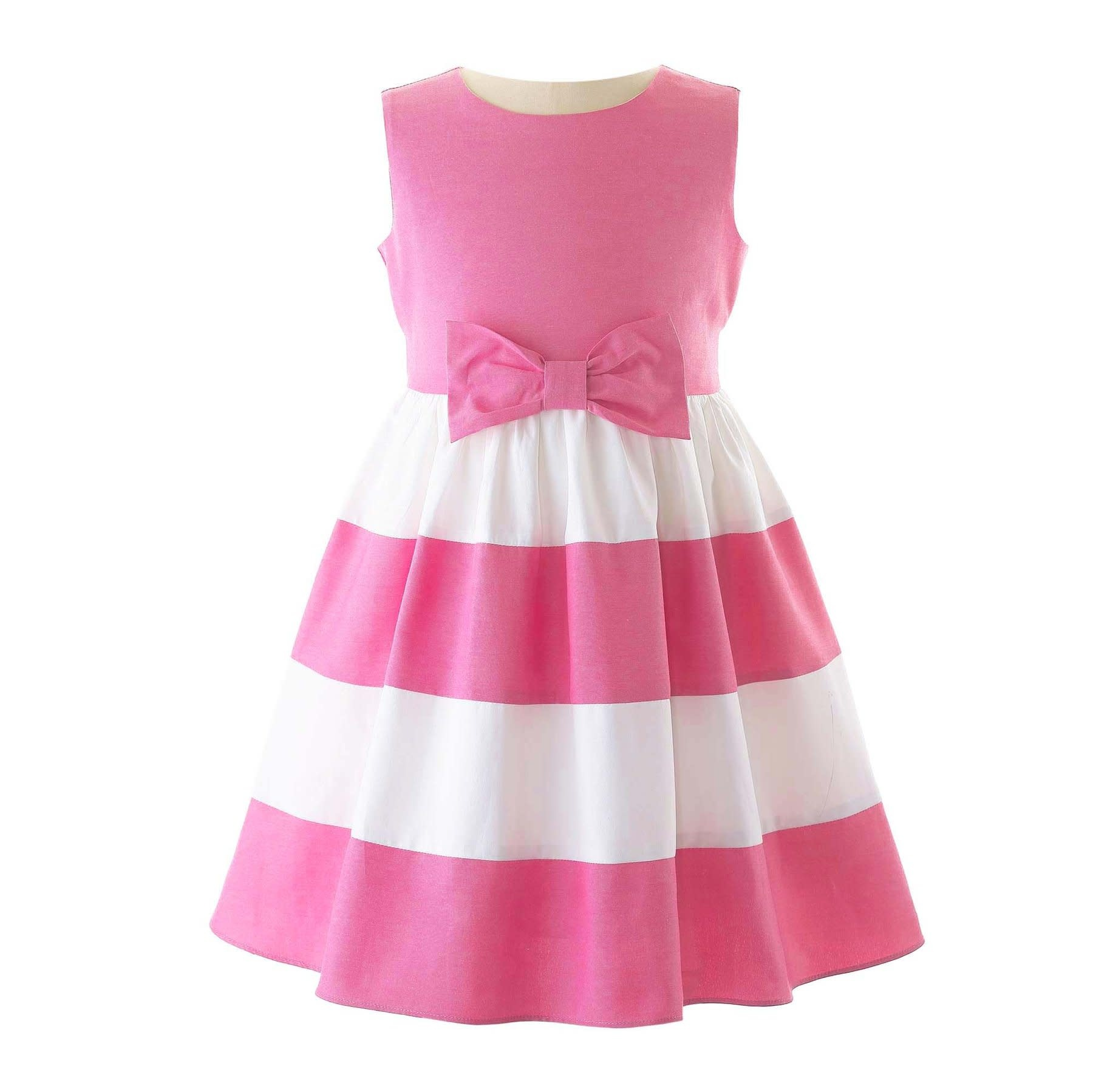 Rachel Riley Pink Chambray Panel Dress