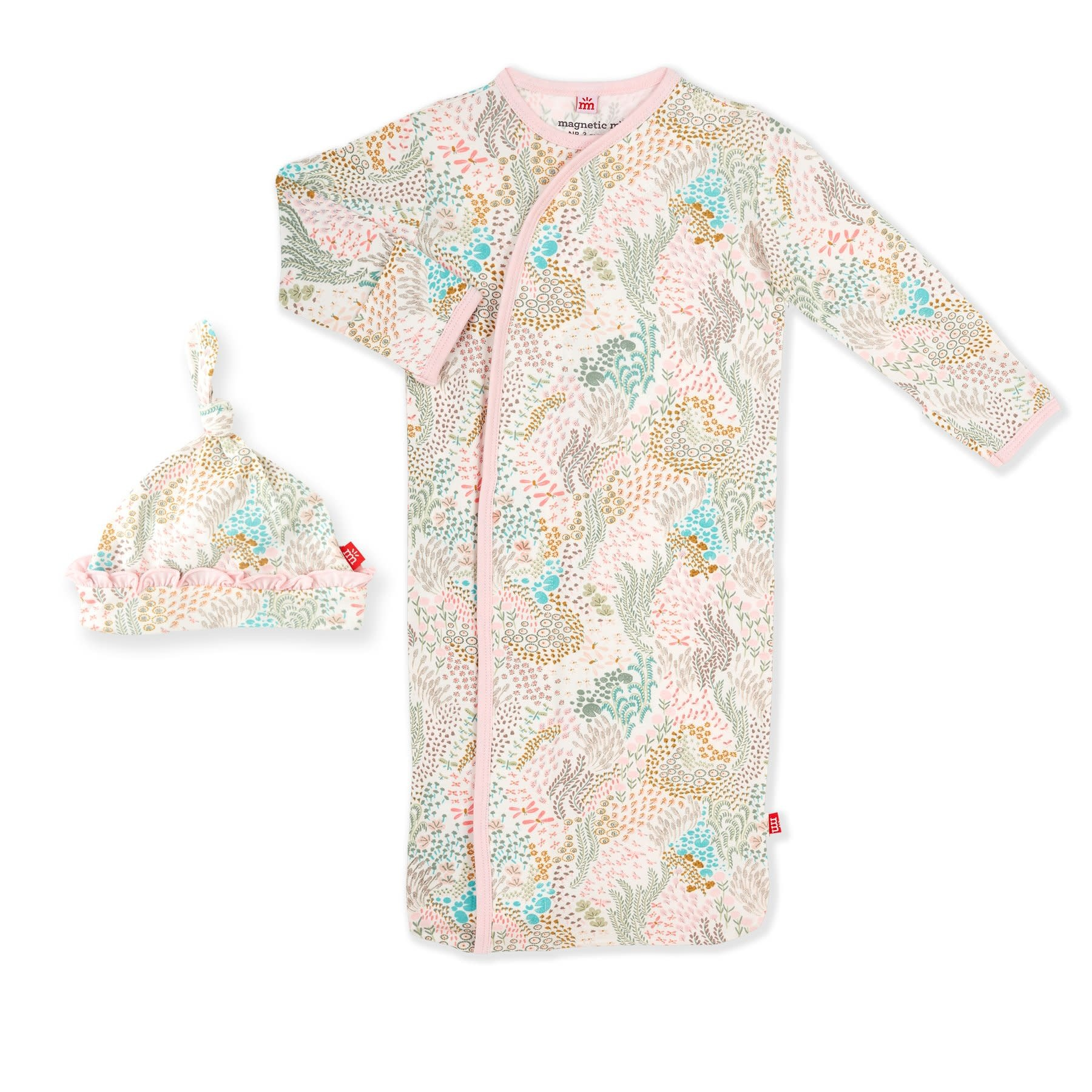 Magnificent Baby Coral Cay Modal Magnetic Gown Set