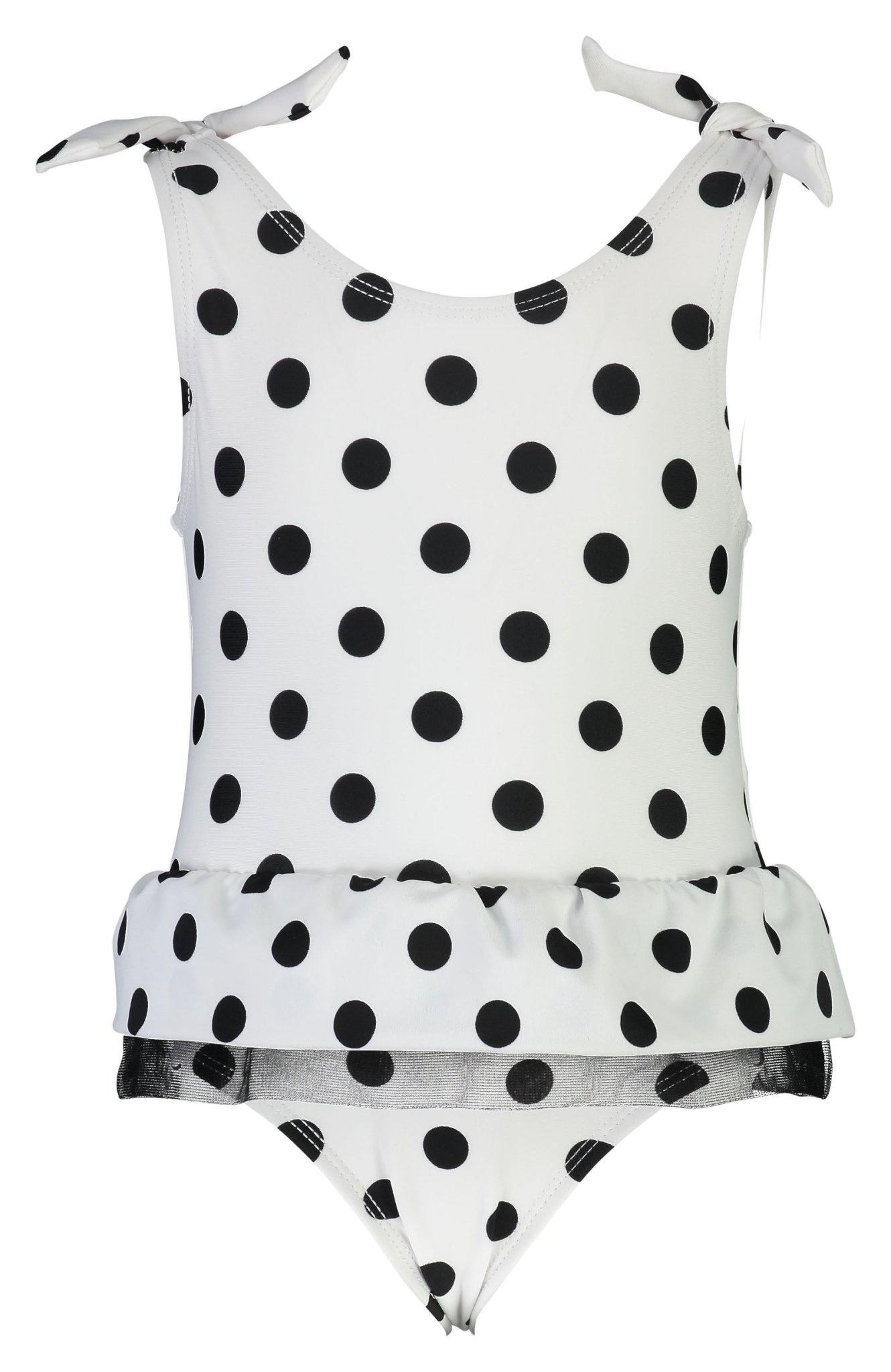 Snapper Rock Black/White Spot Skirt Swimsuit