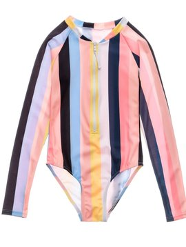 Snapper Rock Opti Stripe LS Surf Suit
