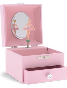 Jewelkeeper Solid Pink One Drawer Music Box
