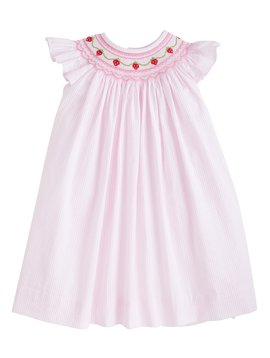 Little English Strawberry Chain Bishop Dress