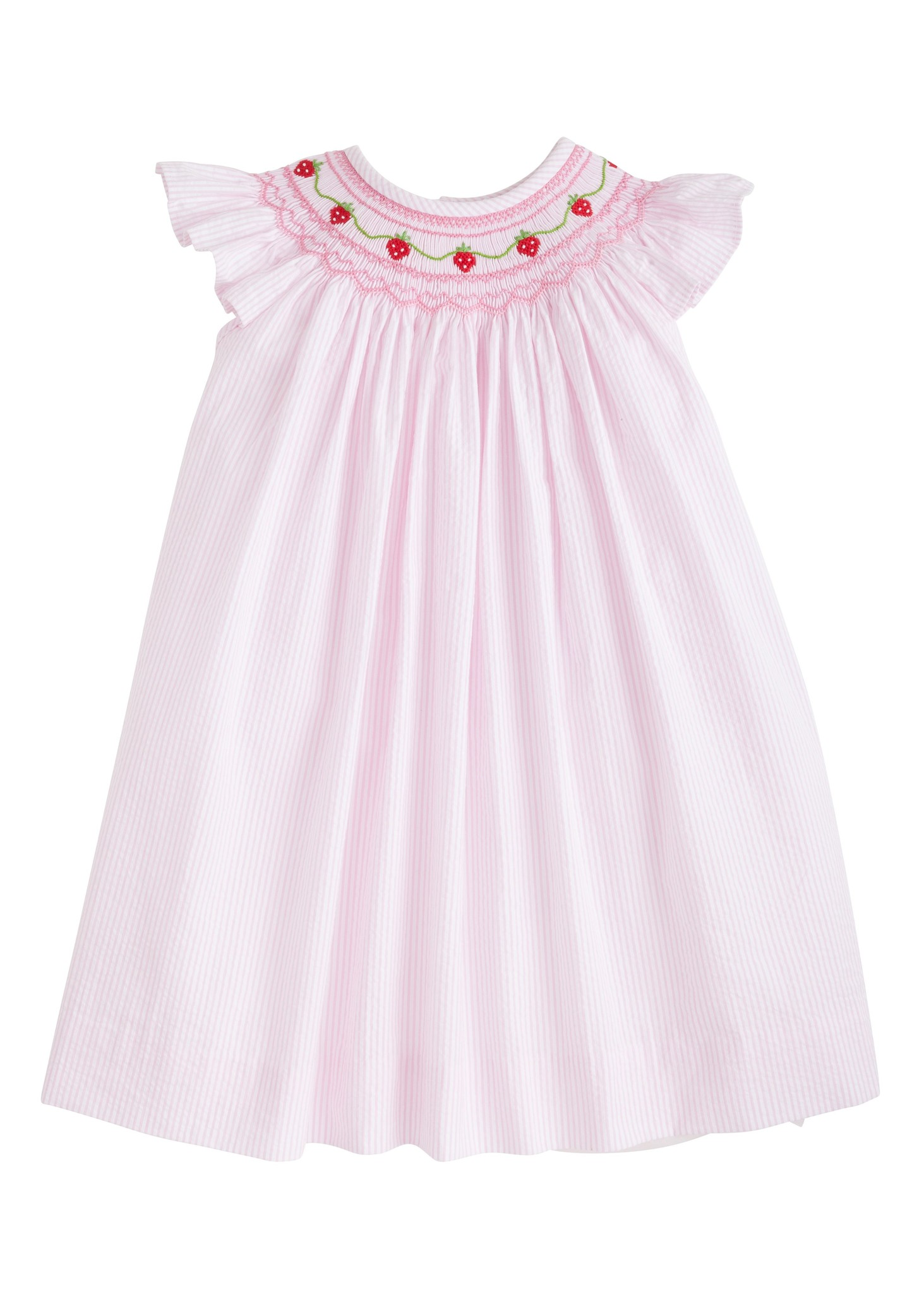 Little English Strawberry Chain Bishop Dress