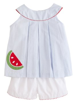 Little English Watermelon Robin Short Set