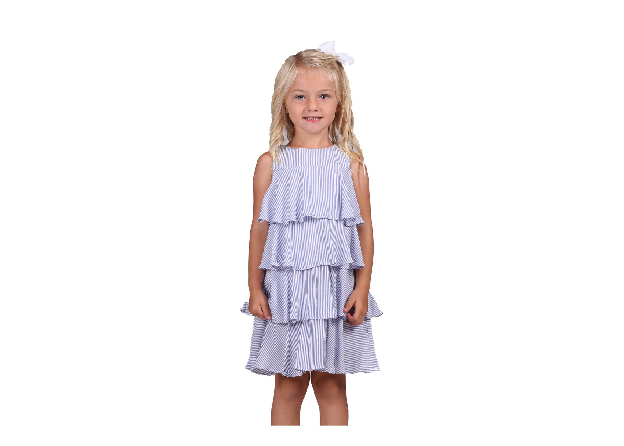 Duffield Lane Blue Stripe Tessa Dress