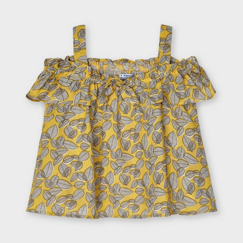 Mayoral Strappy Mustard Blouse