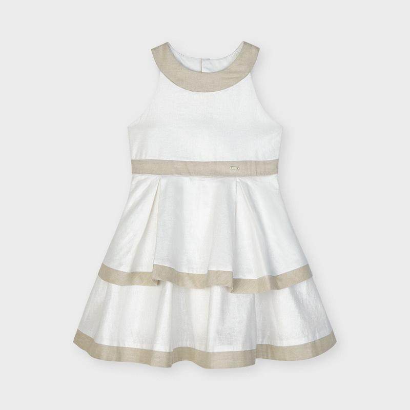 Mayoral Blotch Linen Dress