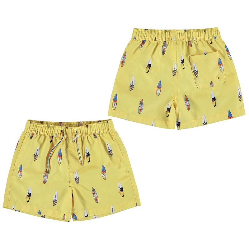 Mayoral Surf Yellow Swim Trunks
