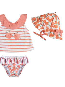 Mayoral Peach Bathing Suit Set