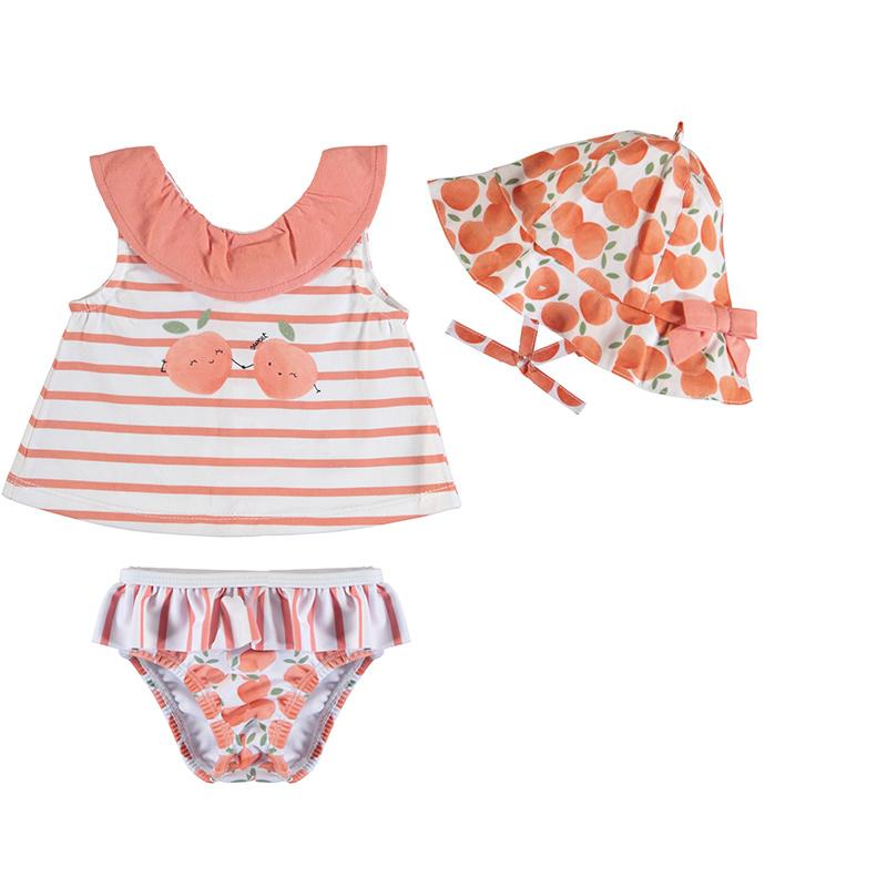 Mayoral Peach Bathing Suit Set