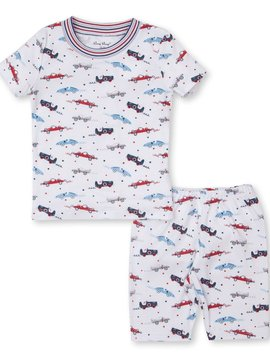 Kissy Kissy Reckless Racecars Short PJ Set