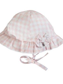 Mayoral Pink Gingham Hat