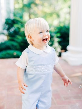Dogwood Smocking Co Blue Classic Smocked Jon Jon