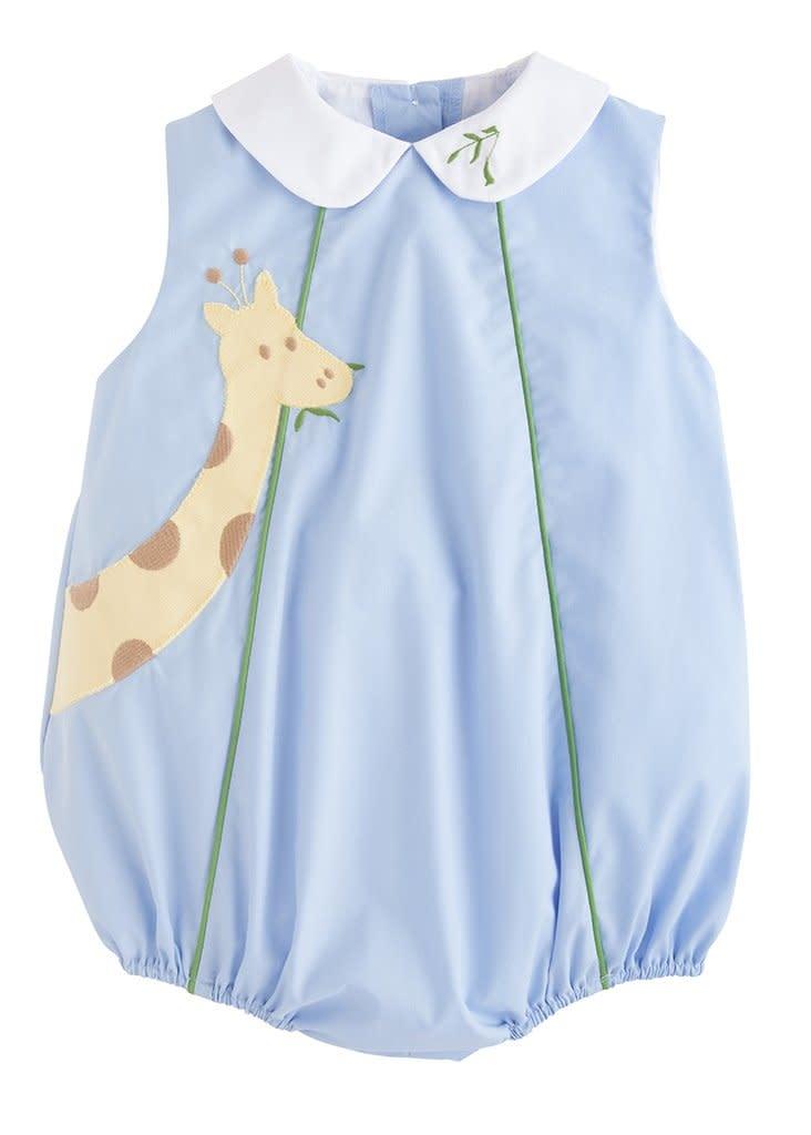 Little English Blue Giraffe Bubble