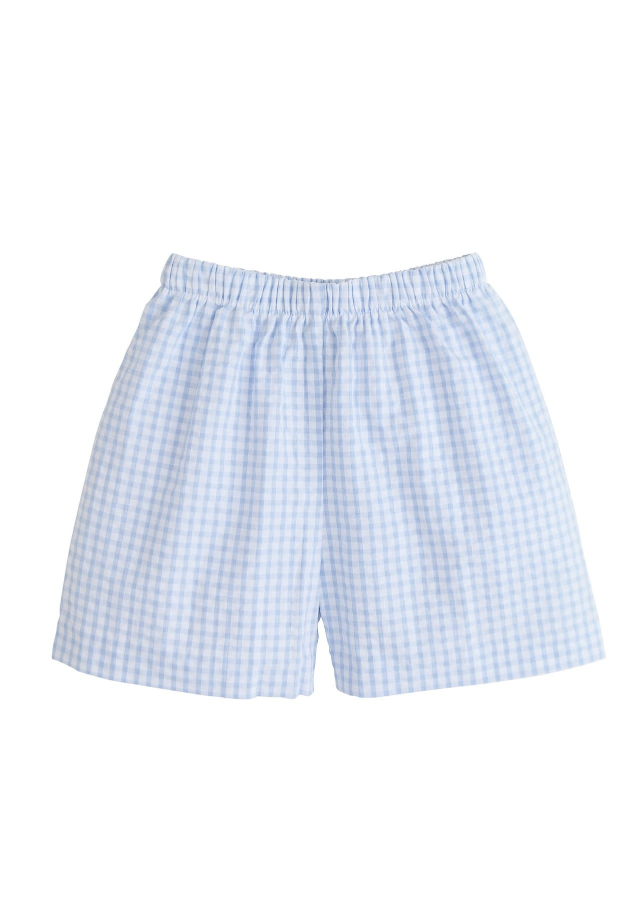 Little English Cornflower Gingham Short