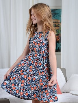 Mini Molly Navy Floral Dress