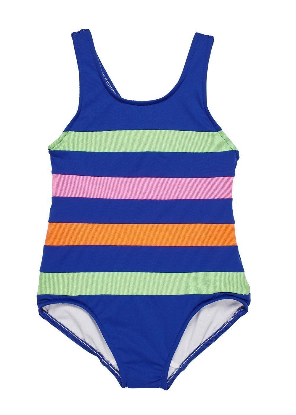 Florence Eiseman Navy Color Block Swimsuit
