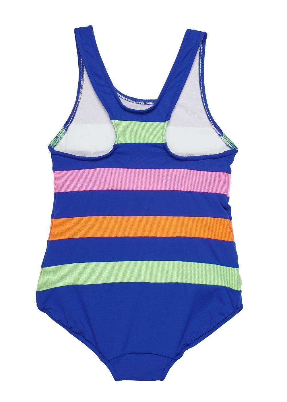 Florence Eiseman Navy Color Block Swimsuit