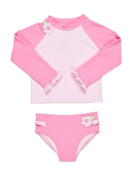 Florence Eiseman Pink Stripe Rash Guard Suit
