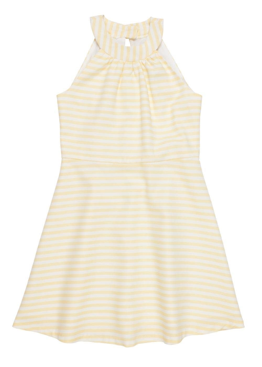 Florence Eiseman Yellow Stripe Pique Dress