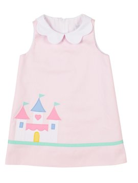 Florence Eiseman Princess Castle Pink Dress