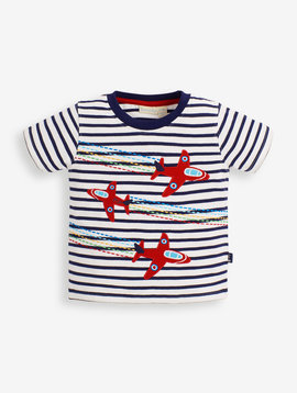 JoJo Maman Bebe Red Arrows Applique Tee