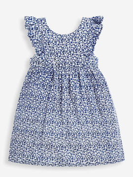 JoJo Maman Bebe Navy Ditsy Summer Dress