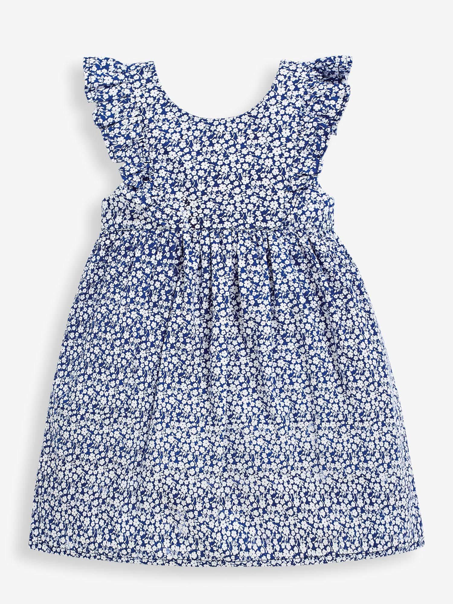 JoJo Maman Bebe Navy Ditsy Summer Dress
