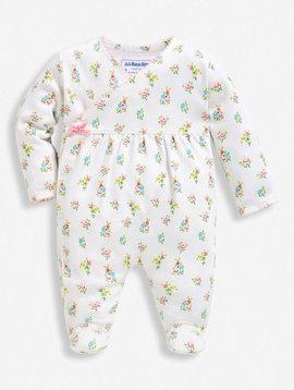 JoJo Maman Bebe Pretty Floral Sleepsuit