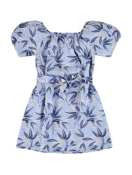 Mayoral Belted Leaves Dress