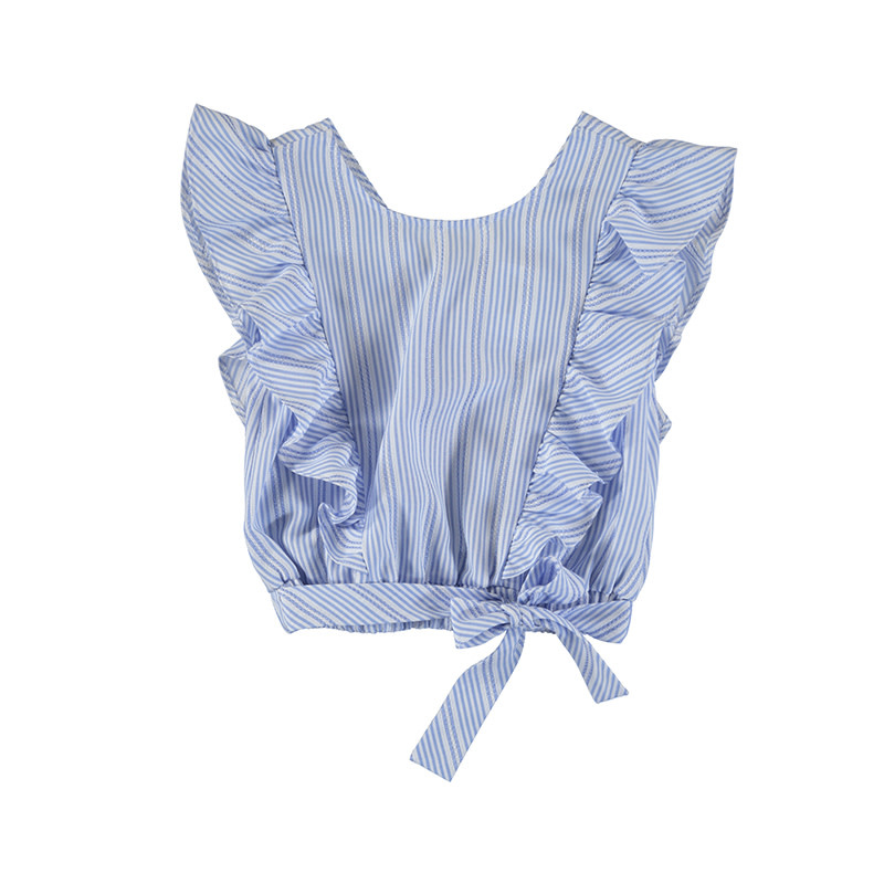 Mayoral Ice Stripes Bow Blouse