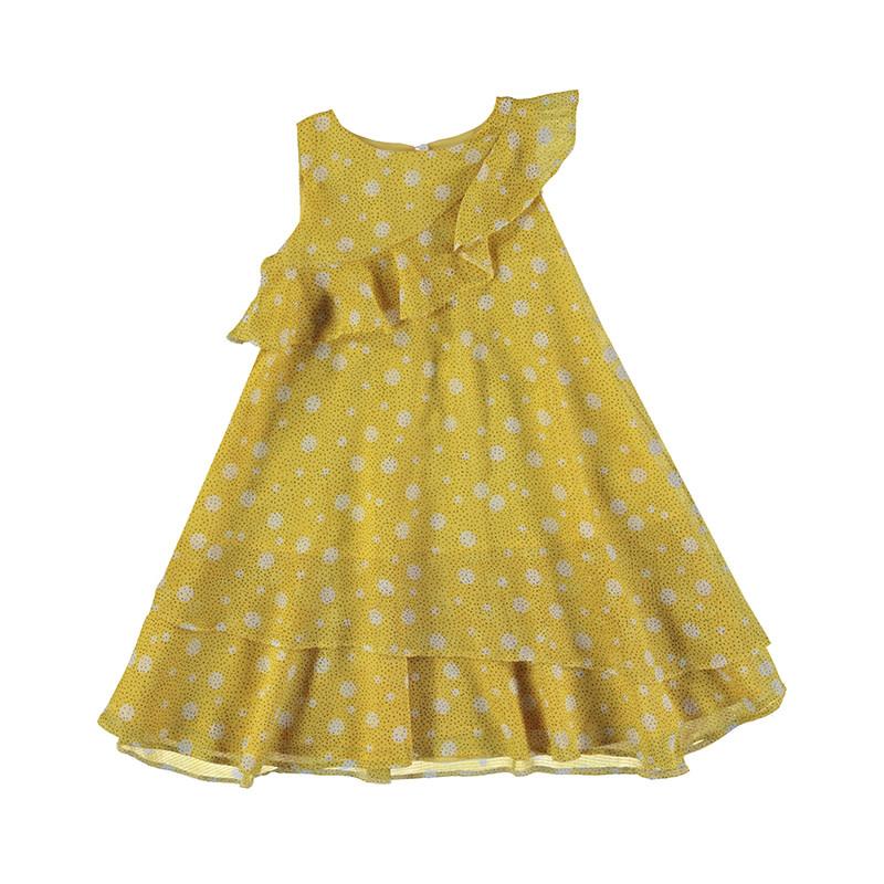 Mayoral Mustard Ruffle Dress
