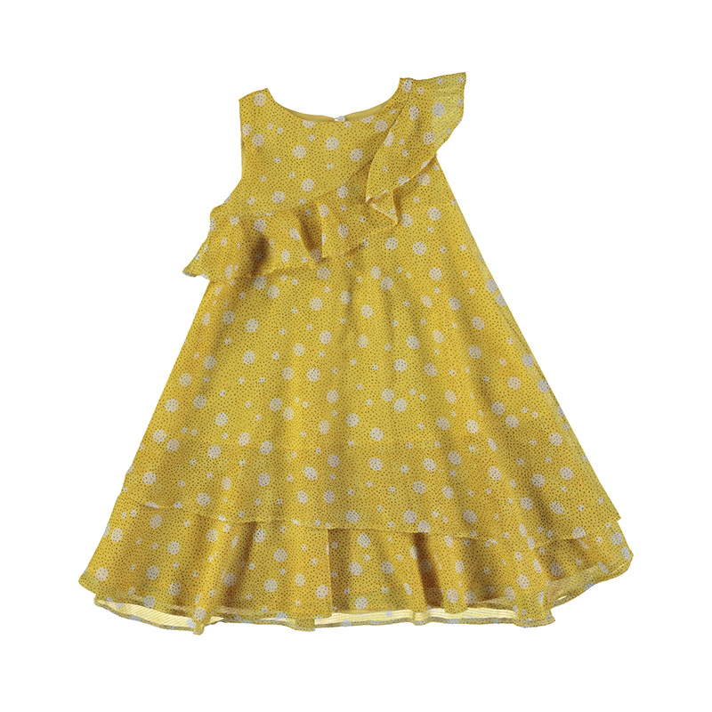 Mayoral Mustard Ruffle Dress