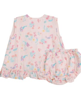 Angel Dear Mermaids Ruffle Bloomer Set
