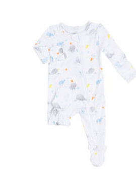 Angel Dear Baby Shark Zipper Footie
