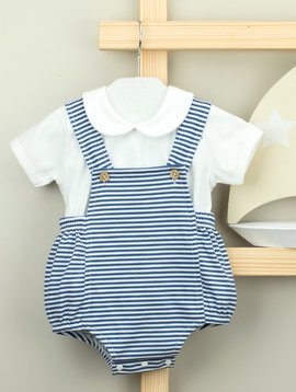 Babidu Sailor Bib Overall Set