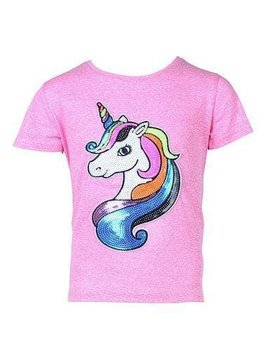 Lola & the Boys Pinky Neon Unicorn T Shirt