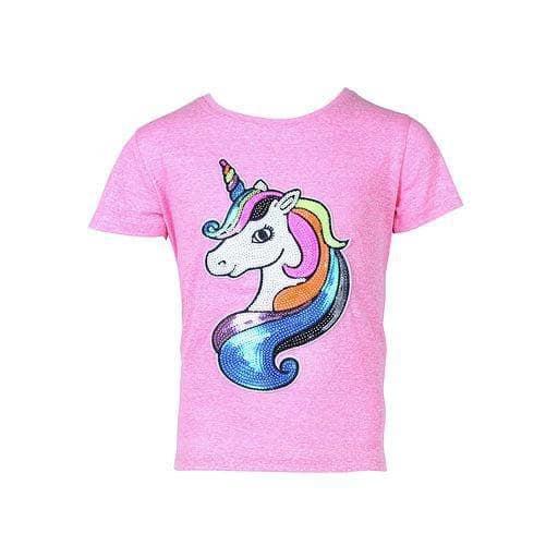 Lola & the Boys Pinky Neon Unicorn T Shirt