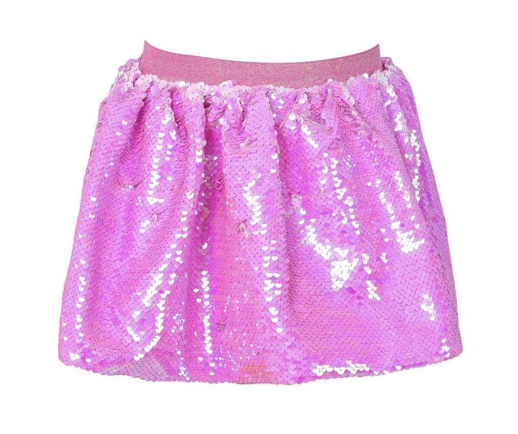 Lola & the Boys Pink Sequin Skirt