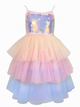 Lola & the Boys Pailette Ombre Tutu Dress