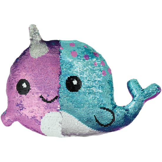 Iscream Narwhal Sequin Pillow