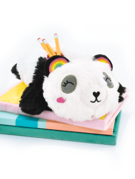 Iscream Panda Furry Pencil Case