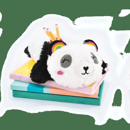 Iscream Panda Furry Pencil Case