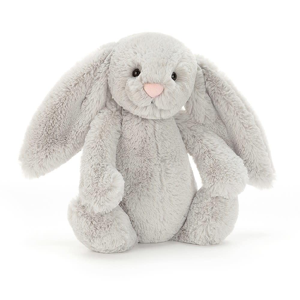 """Jellycat Bashful Grey Bunny Large 14"""""""