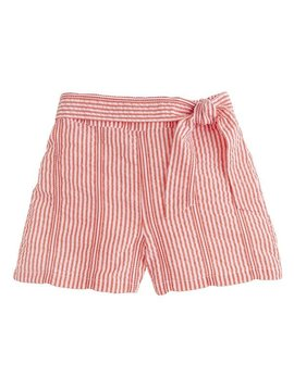 Bisby Red Seersucker Bow Short