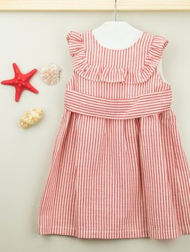 Babidu Red Minerva Ruffle Dress