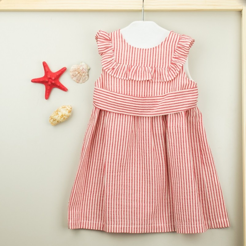 Babidu Red Minerva Ruffle Dress