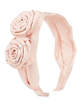 Bari Lynn Double Rose Headband