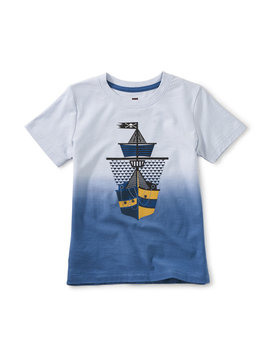 Tea Collection Dip Dye Ship Shape Tee